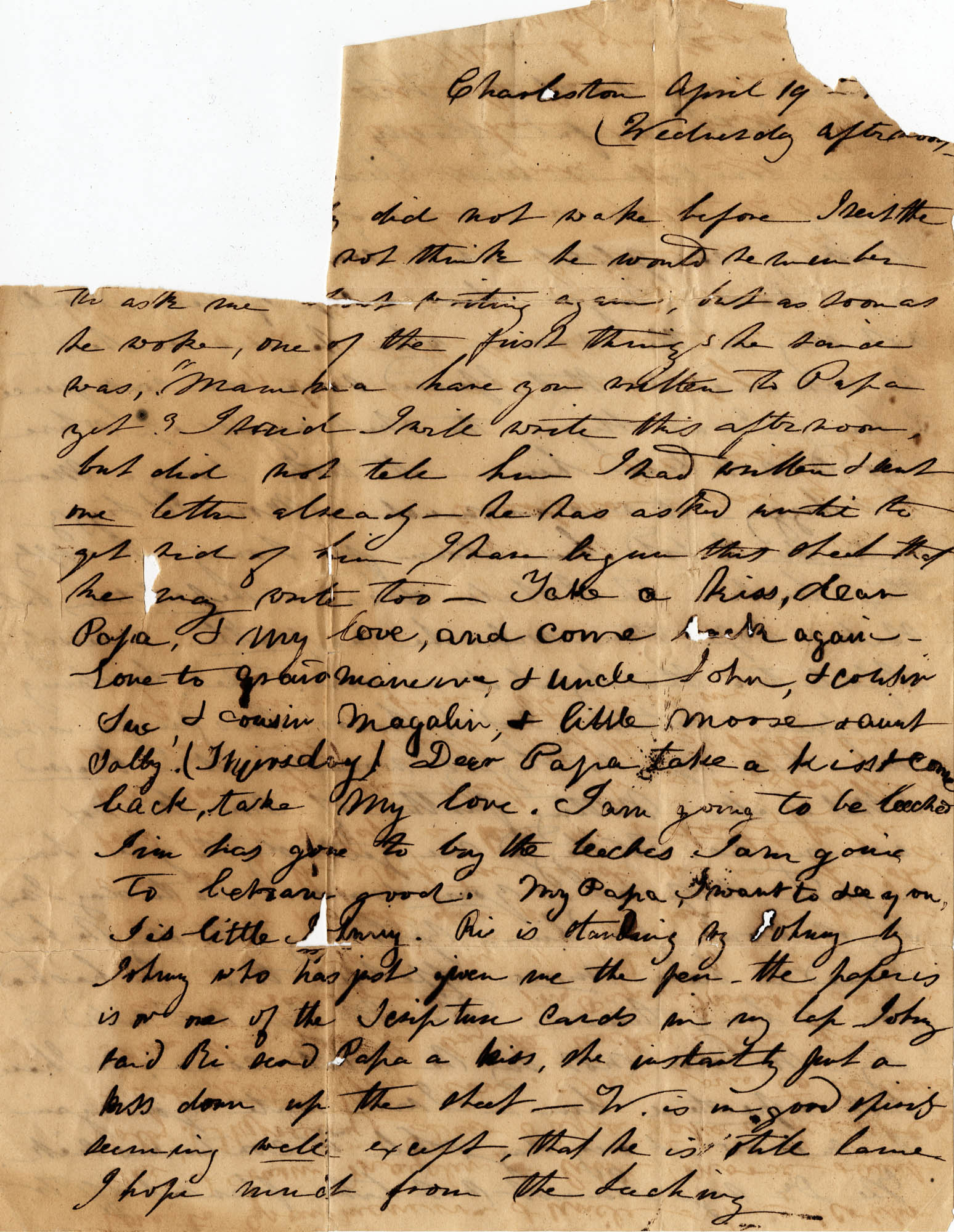 046. Anna Keith to Paul Trapier Keith -- April 19, 1844