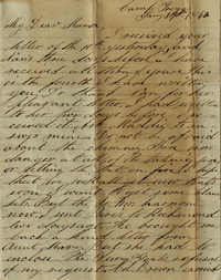 075. Willis Keith to Anna Bell Keith -- Jan. 19, 1863