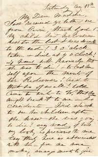 153. Alex Marshall? to Magdalen Elizabeth Wilkinson Marshall -- Aug. 11, c.1880s?