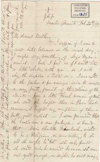 033. Madame Baptiste to Bp Patrick Lynch -- February 24, 1859