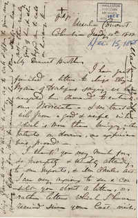 026. Madame Baptiste to Bp Patrick Lynch -- December 15, 1858