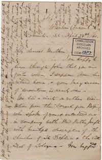 107. Madame Baptiste to Bp Patrick Lynch -- April 28, 1860