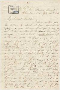 233. Madame Baptiste to Bp Patrick Lynch -- July 22, 1862