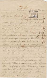 322. Henrietta Lynch to Bp Patrick Lynch -- November 17, 1863