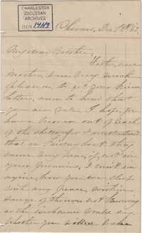 326. Anna Lynch to Bp Patrick Lynch -- December 1, 1863
