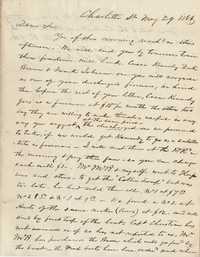 296. A.L. Gillespie to Thomas B. Ferguson -- May 29, 1866