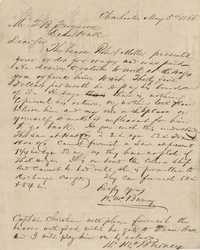 294. William McBurney to Thomas B. Ferguson -- May 5, 1866 (Third letter)
