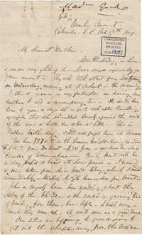 082. Madame Baptiste to Bp Patrick Lynch -- October 17, 1859