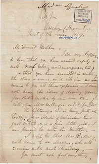 081. Madame Baptiste to Bp Patrick Lynch -- October 15, 1859