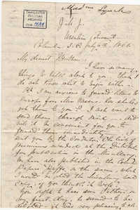 162. Madame Baptiste to Bp Patrick Lynch -- July 6, 1861