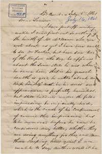 163. John Lynch to Louisa (?) -- July 16, 1861