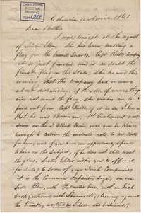 154. John Lynch to Bp Patrick Lynch -- April 12, 1861