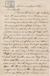 160. John Lynch to Bp Patrick Lynch -- June 8, 1861