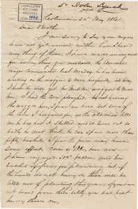 159. John Lynch to Bp Patrick Lynch -- May 24, 1861