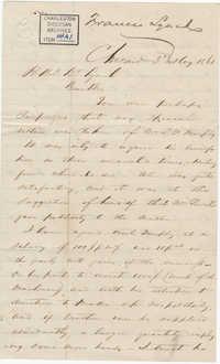 155. Francis Lynch to Bp Patrick Lynch -- May 3, 1861
