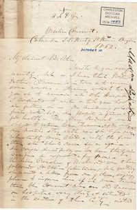246. Madame Baptiste to Bp Patrick Lynch -- October 10, 1862