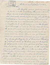 245. John Lynch to Bp Patrick Lynch -- September 26, 1862