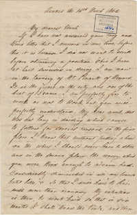 363. Robert Lynch to Bp Patrick Lynch -- March 14, 1865