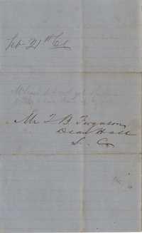 273. William McBurney to Thomas B. Ferguson -- February 21, 1866