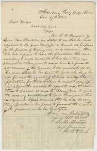 268. F.M. Montell to Capt. Hodges -- December 19, 1865