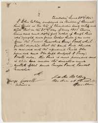 241. Note of delivery of rough rice to Bennett's Mill -- June 26, 1865