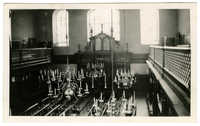 [Interior, Bevis Marks Synagogue. East End, London]