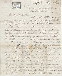 020. Madame Baptiste to Bp Patrick Lynch -- November 6, 1858