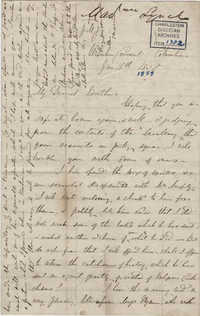 030. Madame Baptiste to Bp Patrick Lynch -- January 16, 1859
