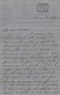 027. Anna Lynch to Bp Patrick Lynch -- December 22, 1858
