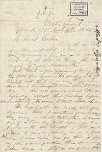 208. Madame Baptiste to Bp Patrick Lynch -- March 14, 1862