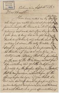 308. John Lynch to Bp Patrick Lynch -- September 18, 1863