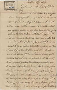 301. John Lynch to Bp Patrick Lynch -- September 5, 1863