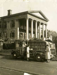 Bookmobile in front of Main Library (1)