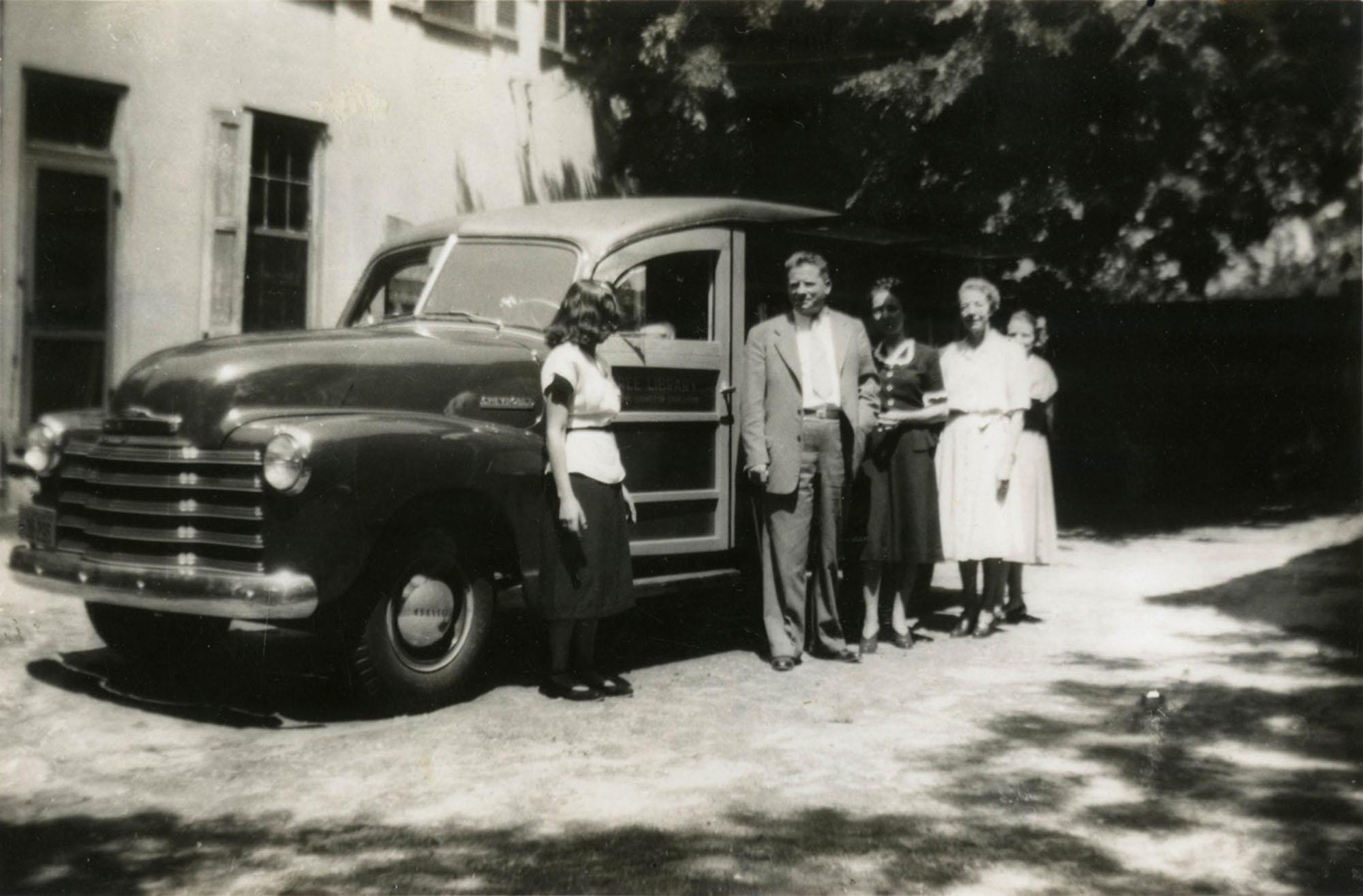 Bookmobile and staff (1)