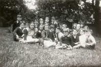 Children in garden, Main Library (3)