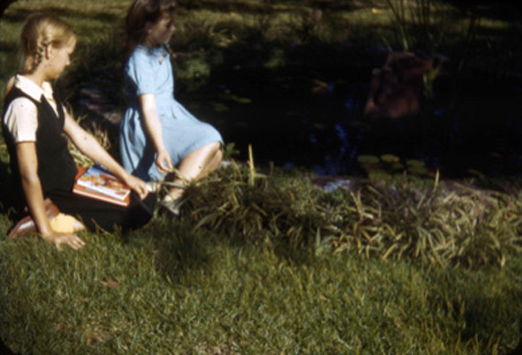 Children in garden, Main Library (4)