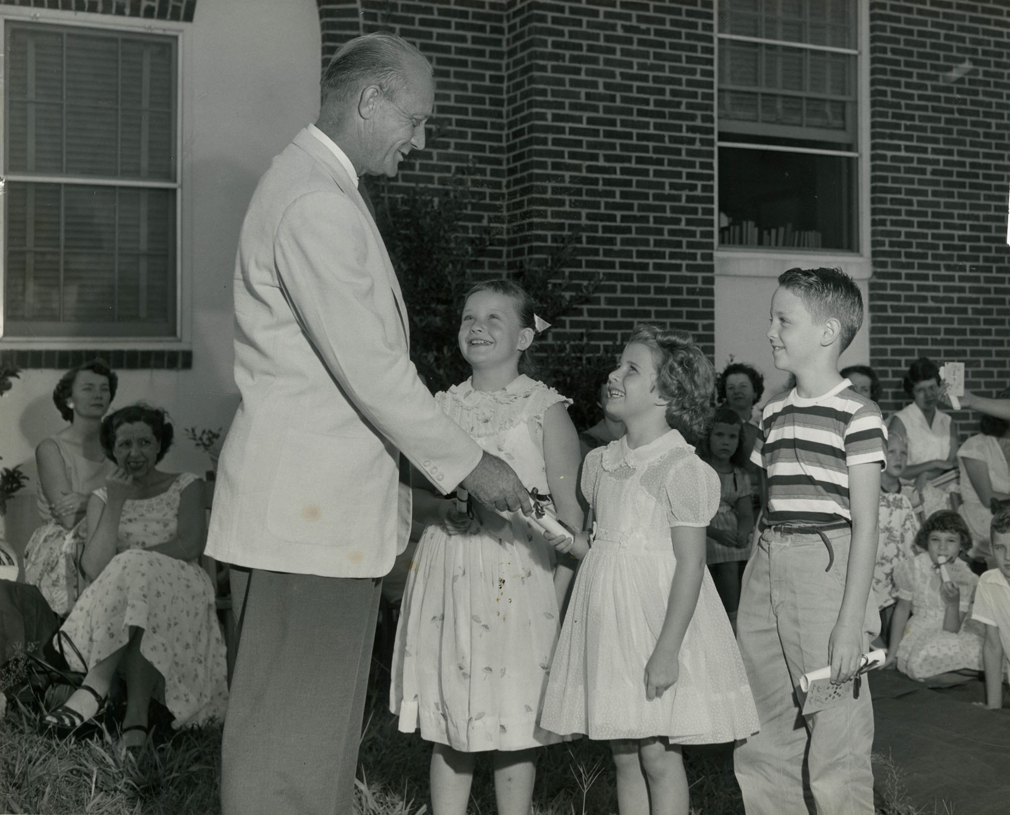 Summer reading closing exercises, Cooper River Memorial Library, 1956 (1)