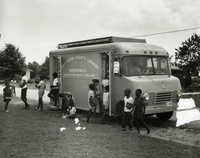 Bookmobile stopped in Remley Point, Mt Pleasant