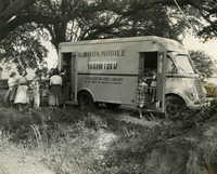 Bookmobile out for a stop