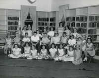 Summer reading closing exercises, Mt Pleasant (Village) Branch Library, 1954 (1)