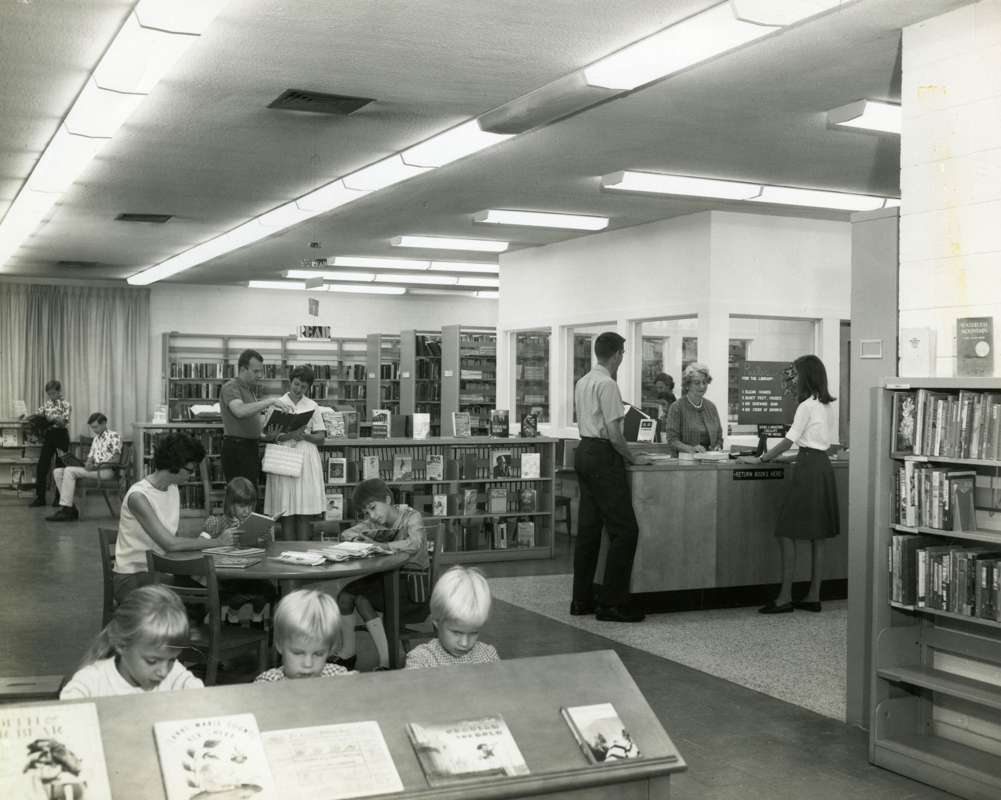 Interior view, West Ashley Branch Library