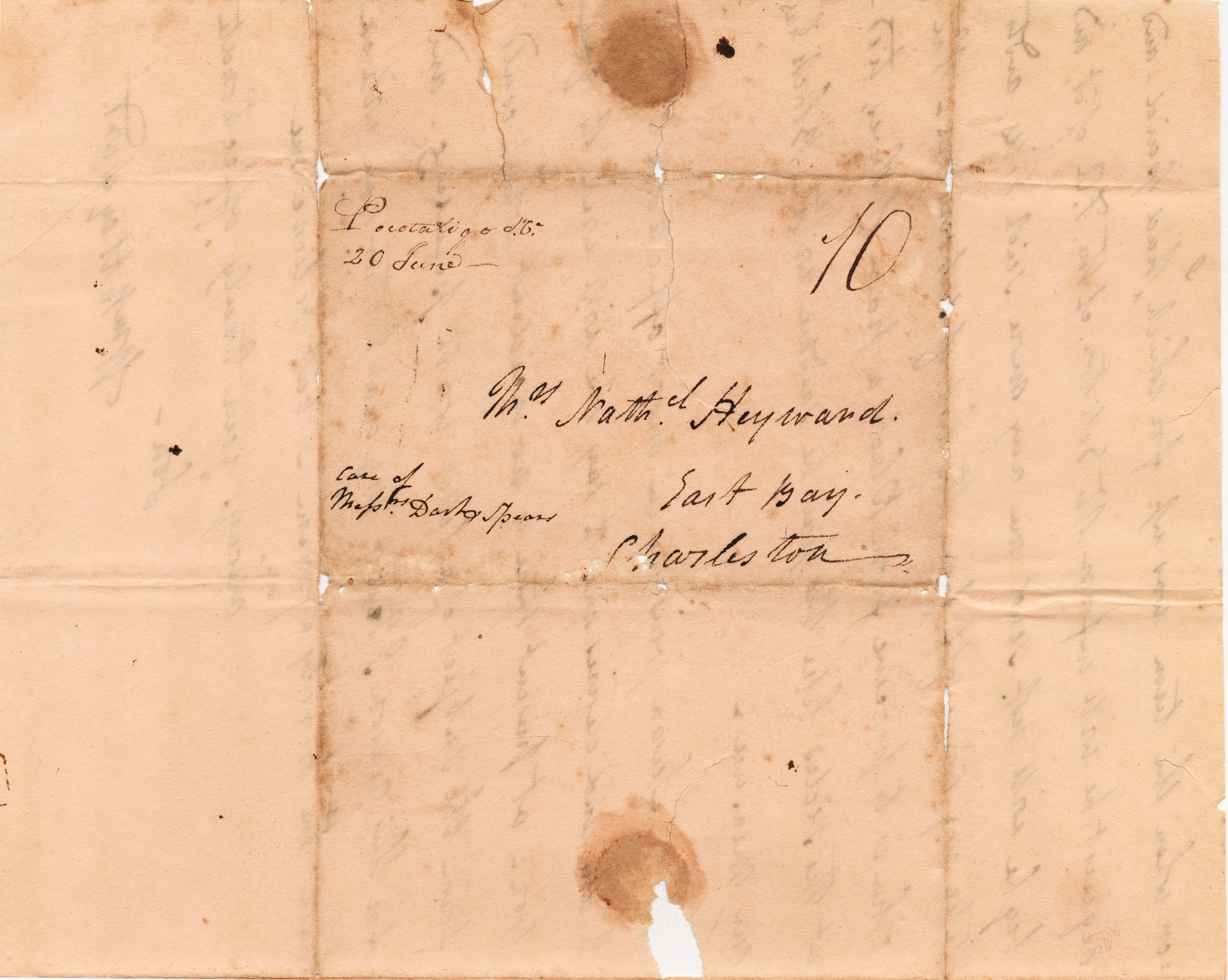 012a. William Manigault Heyward to Mother -- June 20th, ca. 1816