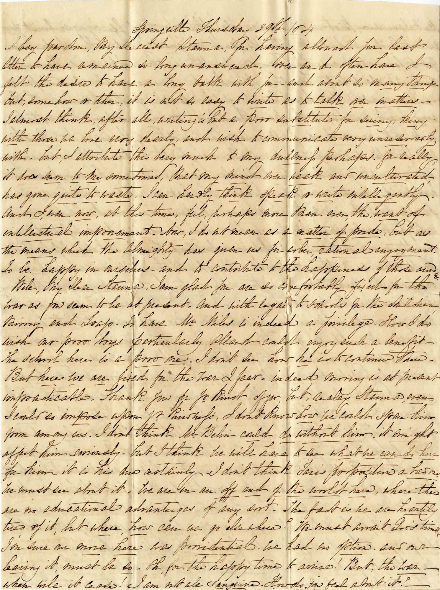 007. Virginia to Stanna -- [Unknown month] 29, 1864