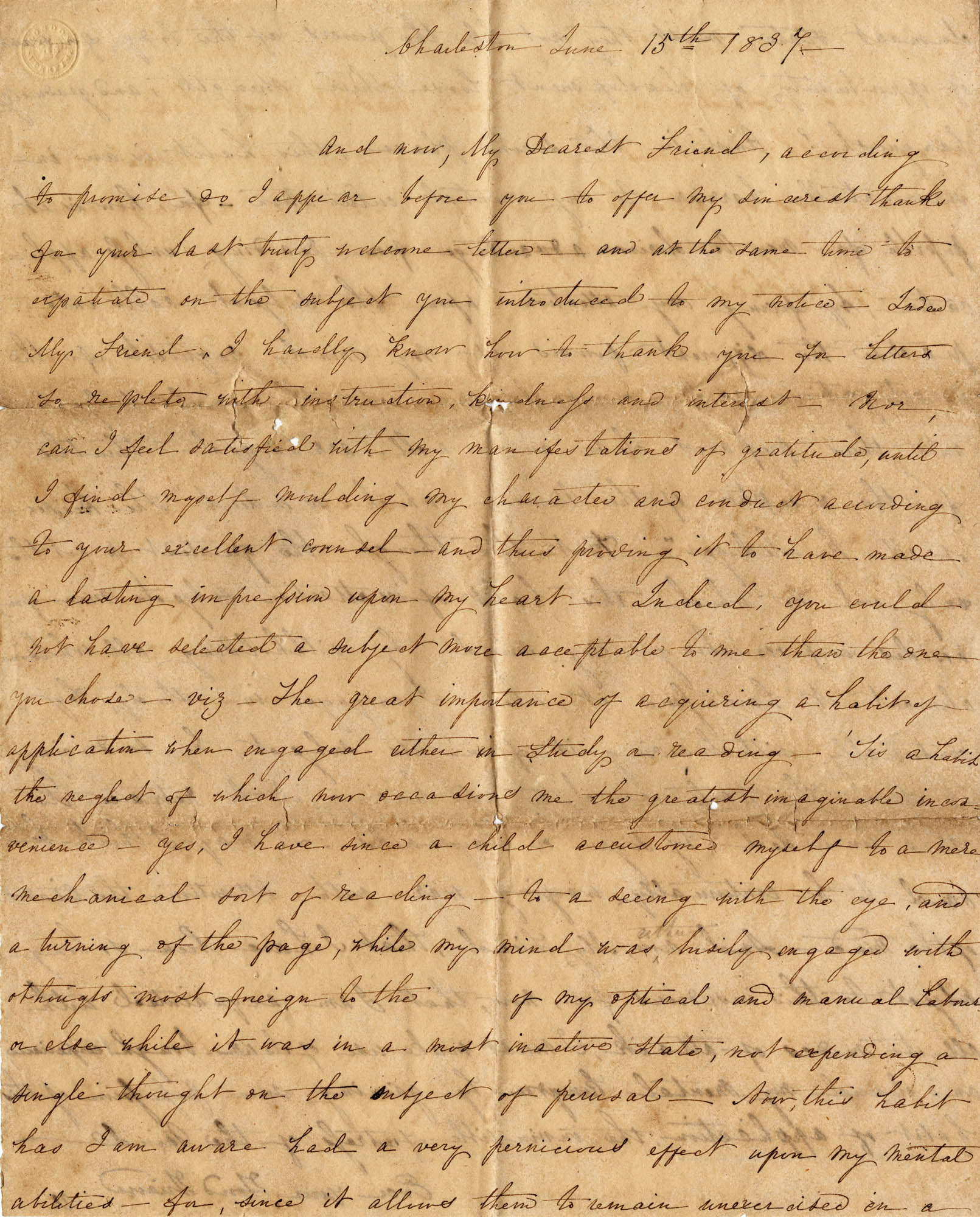 002. V. to an unnamed friend -- June 15, 1837