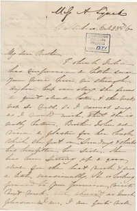 131. Anna Lynch to Bp Patrick Lynch -- October 23, 1860