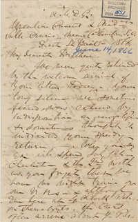 416. Madame Baptiste to Bp Patrick Lynch -- June 14, 1866