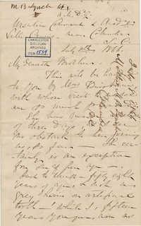 418. Madame Baptiste to Bp Patrick Lynch -- July 8, 1866