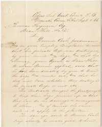 308. T. Linard (?) to Thomas B. Ferguson -- September 5, 1866