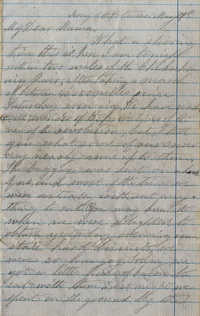 054. Willis Keith to Anna Bella Keith -- May 27, 1862?.
