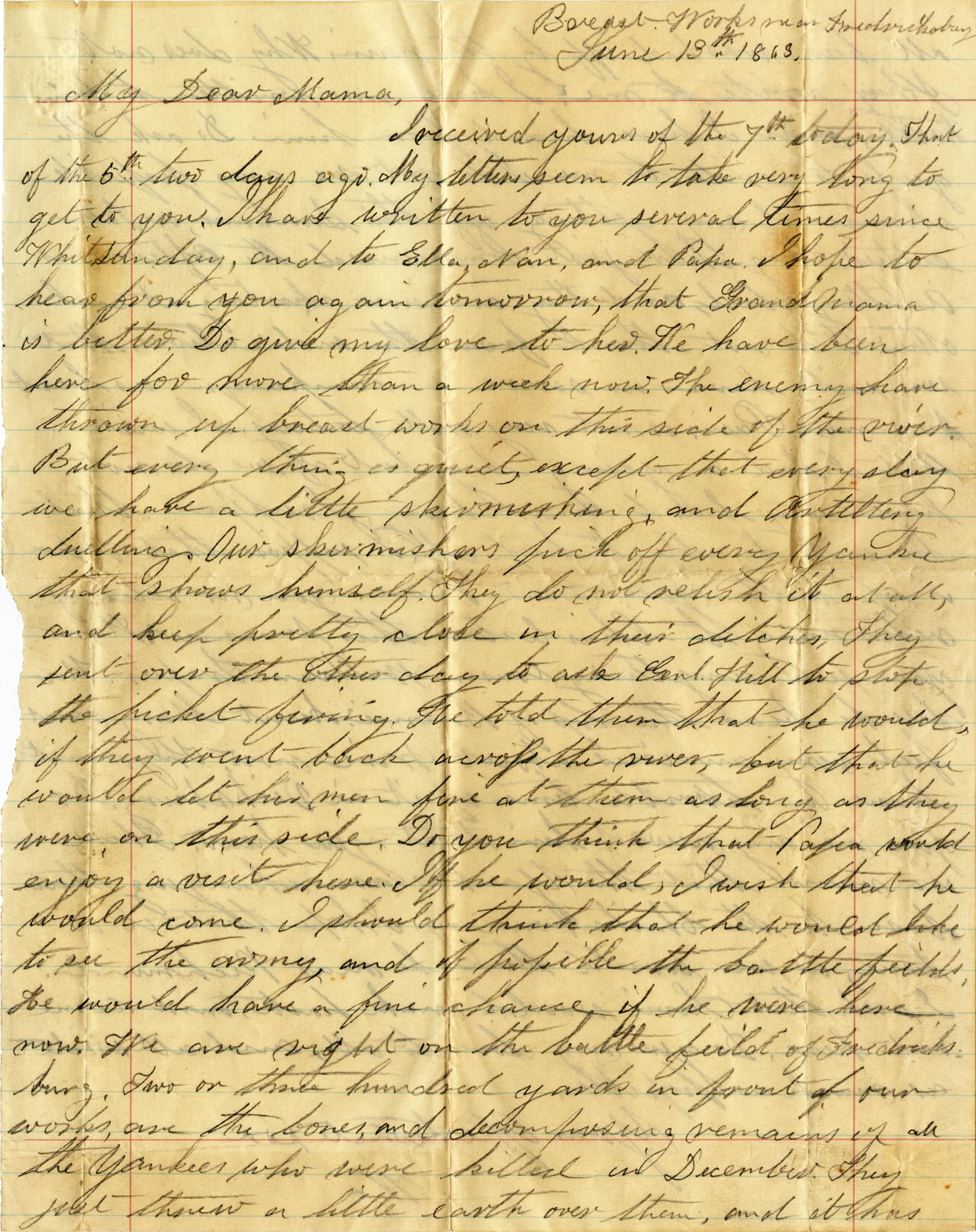 085. Willis Keith to Anna Bell Keith -- June 13, 1863